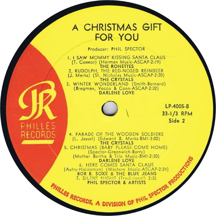 A Christmas Gift For You From Phil Spector.Phil Spector A Christmas Gift For You Lp Crystals