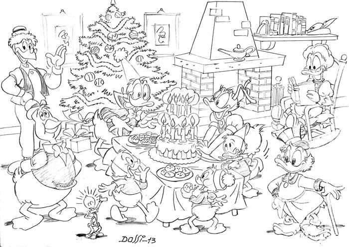 Sandro Dossi - Original drawing - Uncle Scrooge - Merry Christmas
