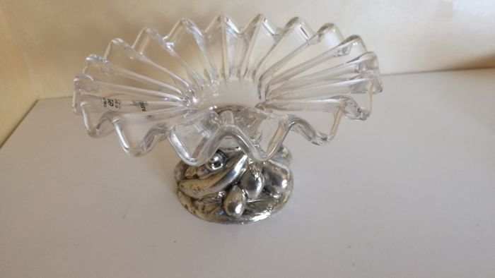 Centrepiece in crystal and silver 925 - Italy - second half of the 20th century