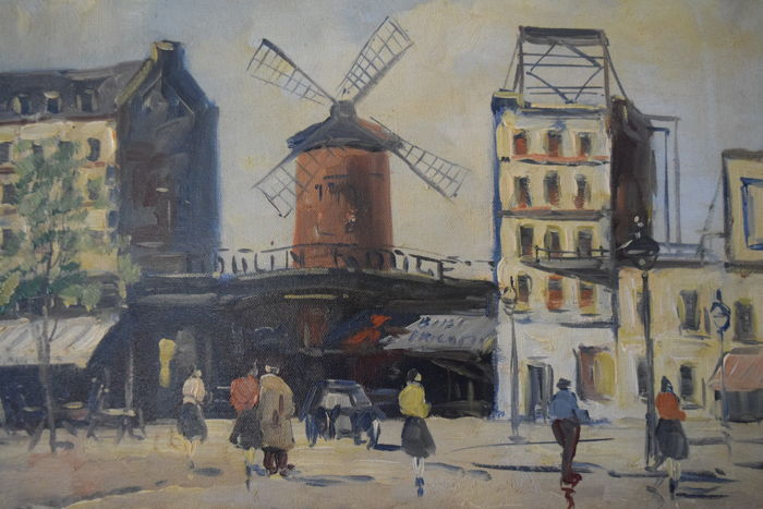 Jan Kelderman (1914-1990) - Moulin Rouge Parijs