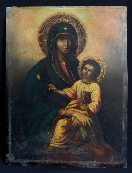 Madonna and Child - oil on copper - 17th / 18th century