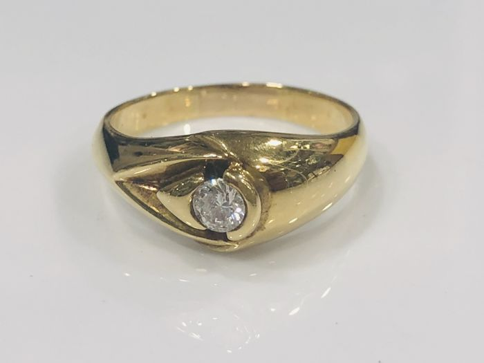 Ring - Gold - Natural (untreated) - 0.25 ct - Diamond