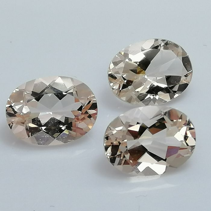 3 Morganite - 3.36 ct