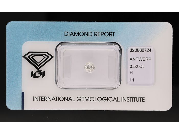 0.52 ct Old European cut, H P1 - No Reserve Price