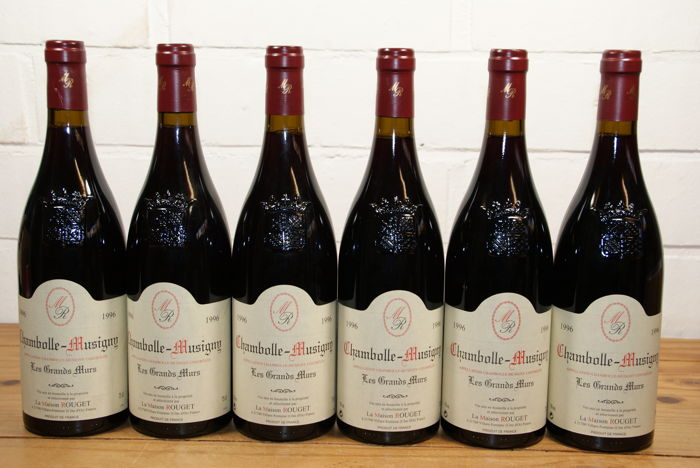 """1996 Chambolle-Musigny """"Les Grands Murs"""" - 6 Bouteille (0,75 l)"""
