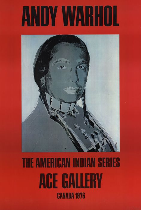 Andy Warhol - American Indian (Red), ACE Gallery Canada 1976
