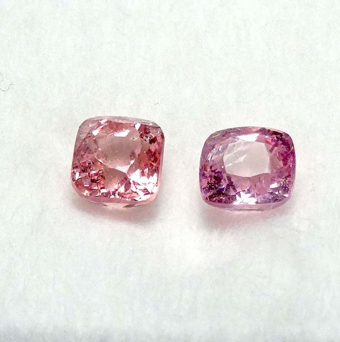 2 pink spinel - 3.11cts total