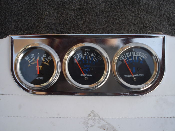 Parts - 1 set ampere and oil pressure and temperature gauges - 1960-1985 (1 items)