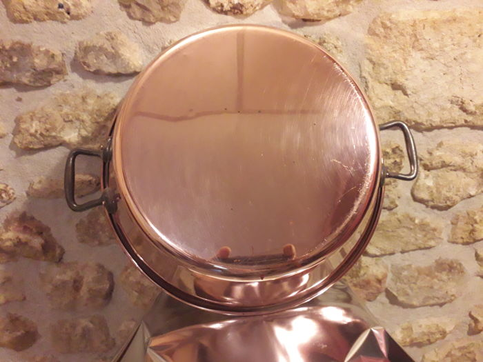 Dinanderie Française - Jam Pan/Basin - Red copper