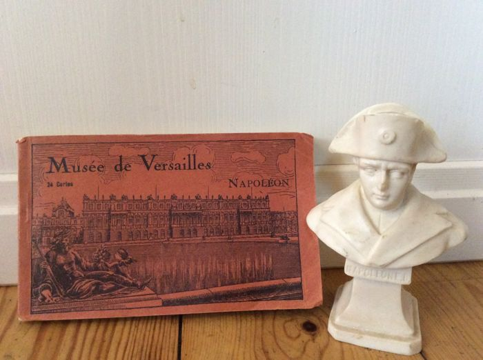 Musée de Versailles - Braun & cie Paris - Postcards and small bust Napoleon - Set of 2 - Paper