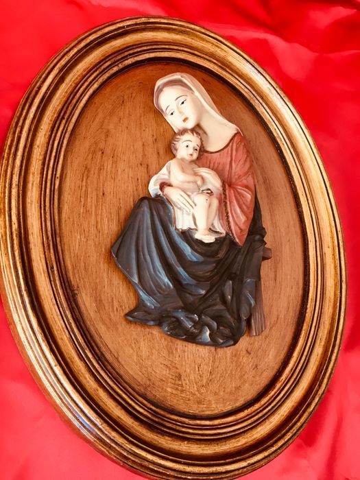 Christmas Birth child Jesus with Mary - Hand painted