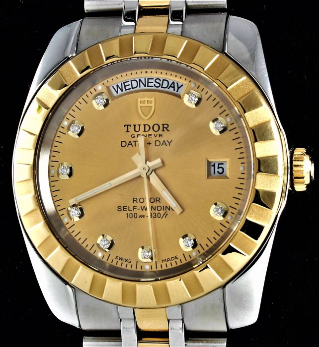 Tudor - Date Day Rotor Self Winding - Gold & Diamonds - Ref. No: 23013-BKSTT - Excellent condition - Hombre - 2011 - actualidad