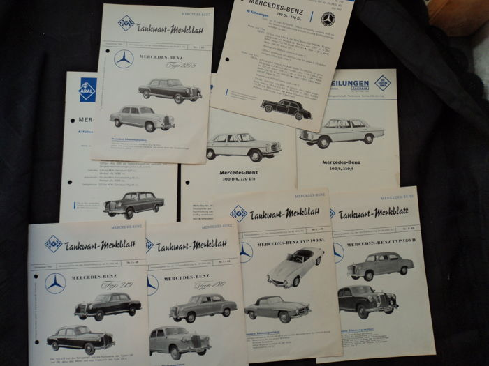 Gas station attendant leaflets and technical information - ARAL - 1956-1970 (9 items)