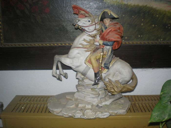 Capodimonte - Napoleon on Horse - Ceramic