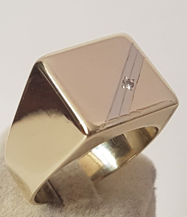 Ring - Pink gold - 0.05 ct - Diamond