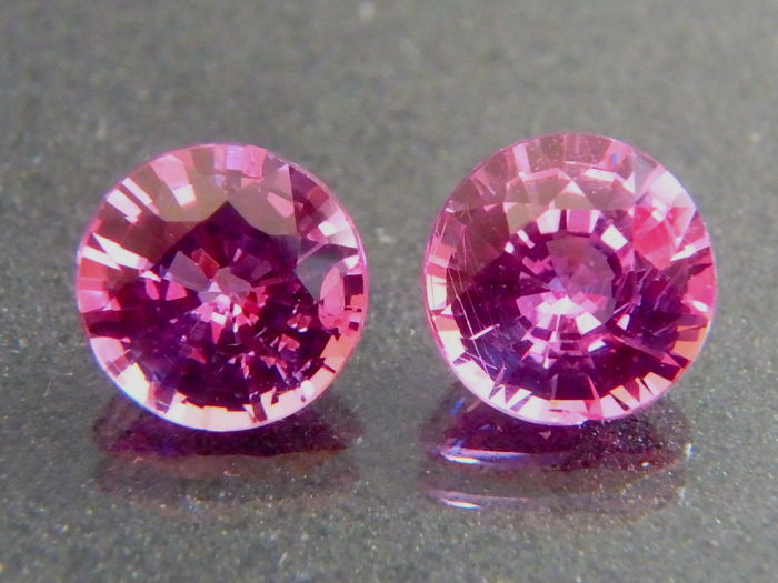 Sapphire Pink Pair - 0.50 + 0.42 = 0.92 ct  total