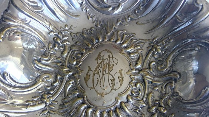 Dish - Silver plated, Silver gilded - France - 1875-1900
