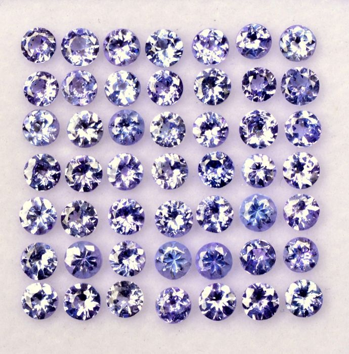 Lot of 48 tanzanite pieces 6.50 ct in total