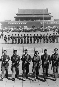 Henri Cartier Bresson (1908-2004)/The Metropolitan Museum of Art - Communist Militiamen in Peking, China, c.1940's