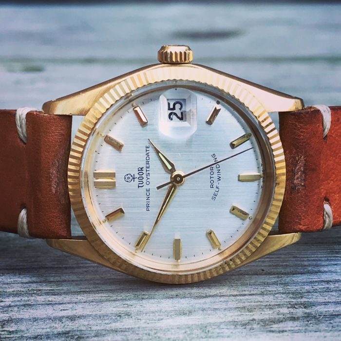 Tudor - Prince Oysterdate 18k solid gold  - Ref. 7966 - Unisex - 1960-1969
