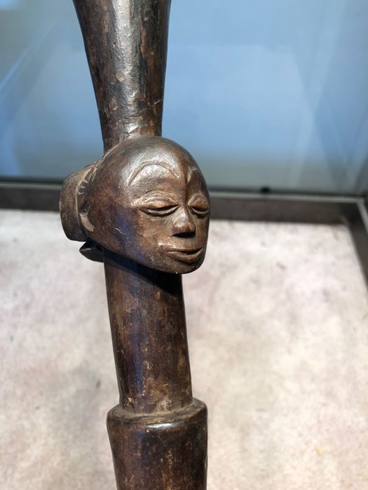 Adze of Prestige in Wood and in Iron - LUBA - D.R Congo