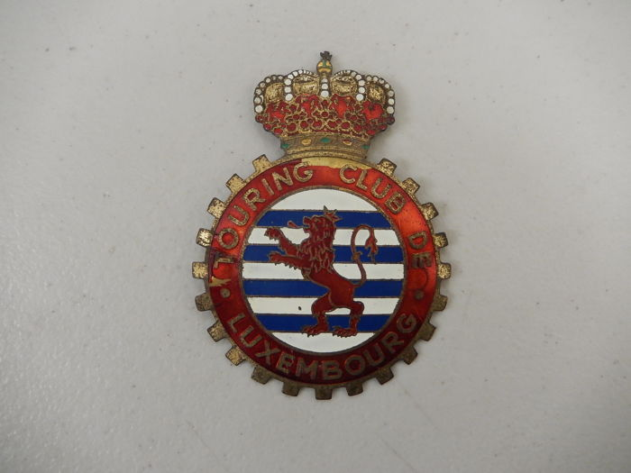 Jelvény - Vintage Touring Club Luxembourg Car Badge Emblem - 1970