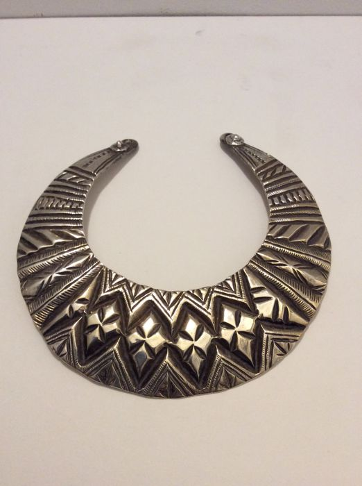 Silver collar necklace - Swat Valley, Pakistan - early 20th century