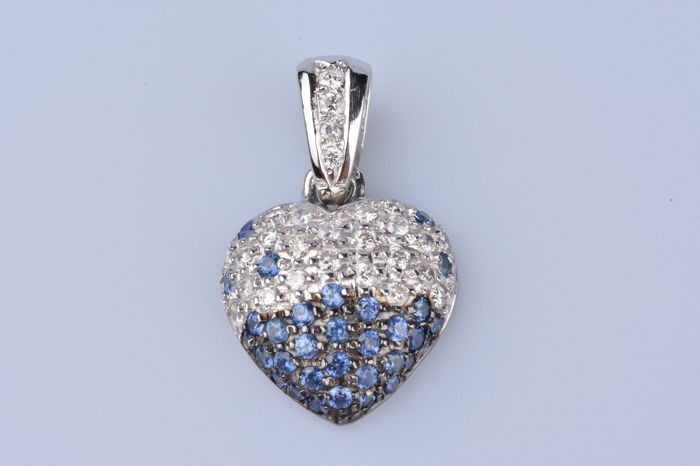 18 kt. White gold - Pendant Diamond