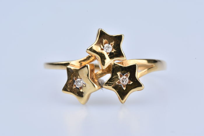 18 kt Gold - Ring Diamant - Diamant