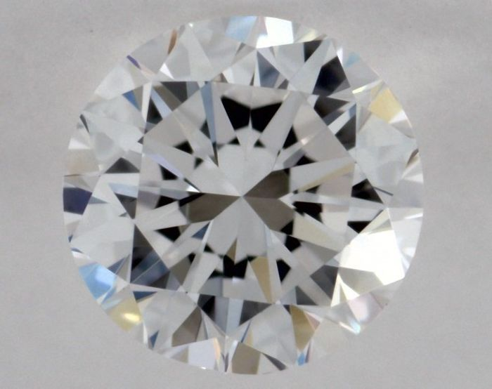 Round diamond of 0.20 ct, certified and engraved by GIA, colour F, clarity IF