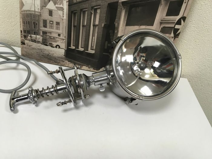 Search lamp - steel (stainless) - 20th century