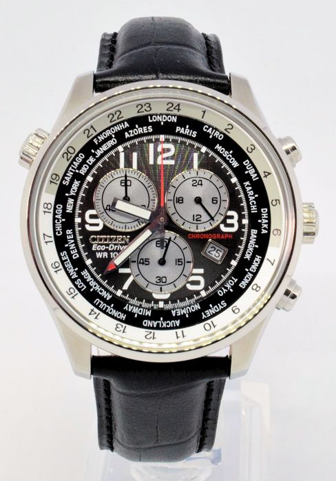 Citizen - Eco-Drive World Time Chronograph - Homem - 2011-presente