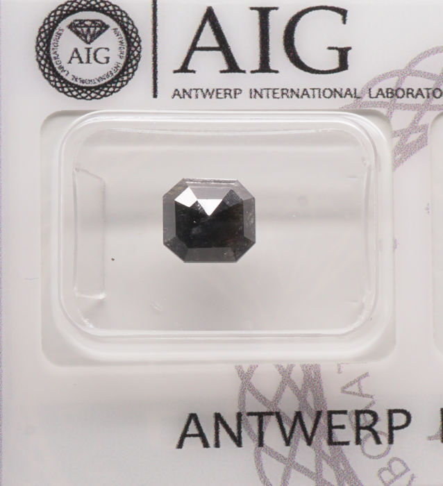 1.09 Cts Certified Natural Fancy Black Diamond -No reserve