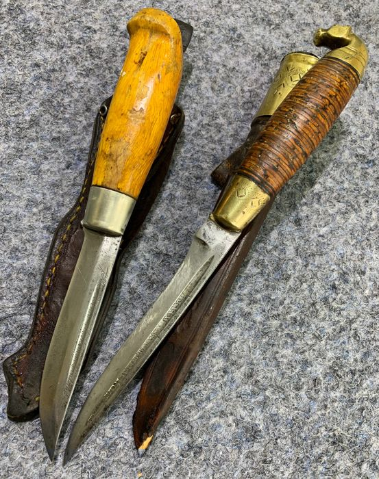 Finland - Two Old Finnish Knives - 1920-30's - Hunting - Knife