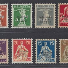 Switzerland 1918 - Service stamps with overprint Kriegswirtschaft - Michel D1I/D8I