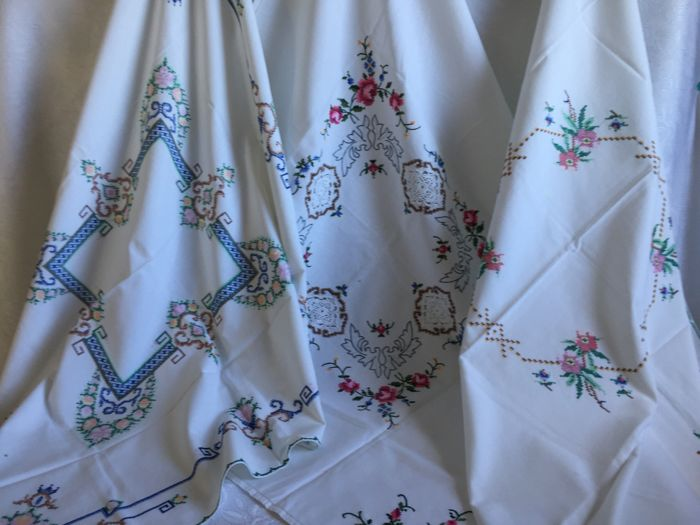 Tablecloth - pair of 3 - cotton