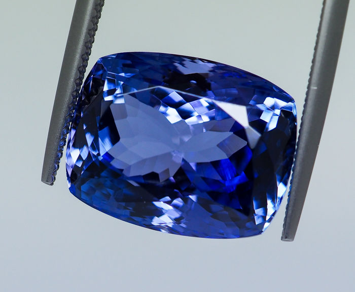 Bluish Violet - Tanzanite - 14.29 ct - No Reserve