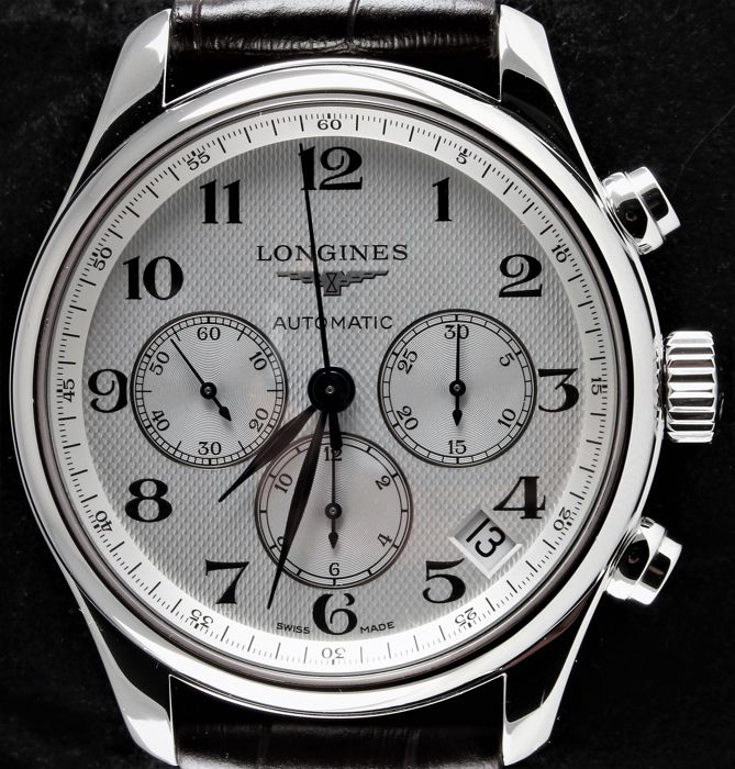 Longines - Master Collection - Automatic Swiss Chronograph - Ref. No. L2.693.4 - Excellent Condition - Warranty - Men - 2011-present