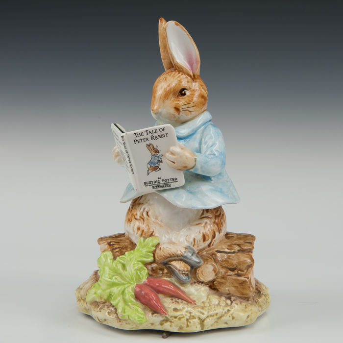 Schmid speeldoos - Peter Rabbit - Beatrix Potter  - Caja musical - Porcelana