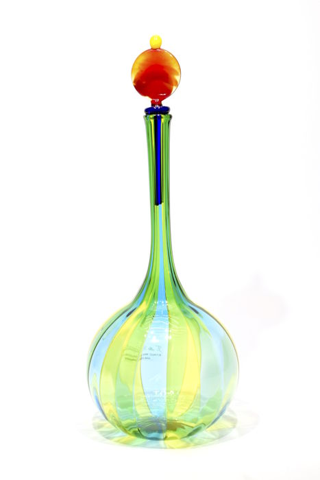 Angelo Ballarin ( Murano ) - Bottle with canes