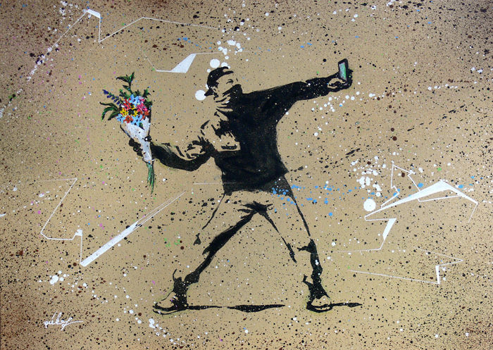 piek7 - First A Selfie (after Banksy)