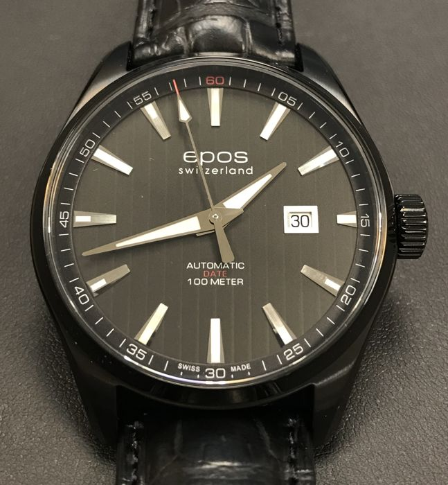 Epos - Passion All Black Men's automatic - 3401/F-BLK-PVD-BLK - Heren - 2011-heden
