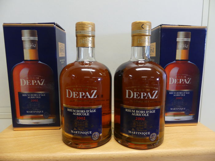 Rhum Depaz millésime 2002 - 2 bottles in original box