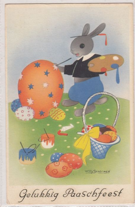 85x Easter, Easter party, theme Easter - period: 1899-1960