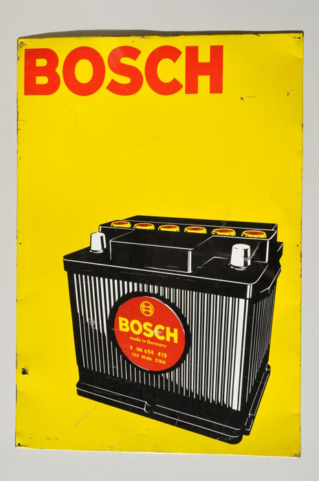 Signs - BOSCH battery - 1950-1960