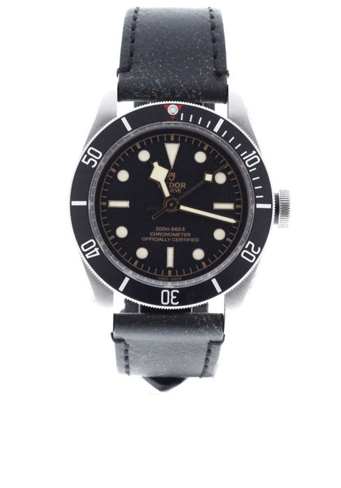 Tudor - Heritage Black Bay Black Leather Strap - 79230N - Unisex - 2017