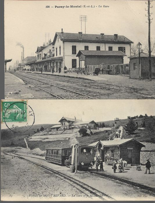 Very good batch of 40 old postcards of train stations of Europe and France