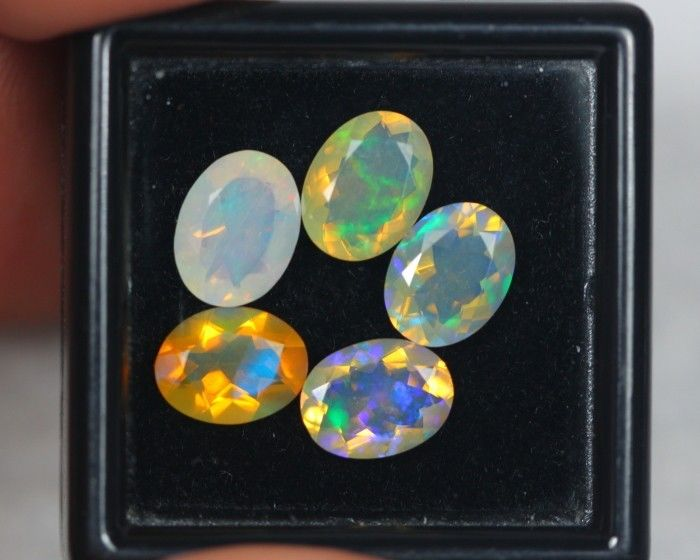 Opal - 3.59 cts totals-  5 pieces