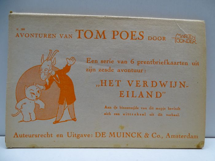 Picture postcards of Tom Poes by Marten Toonder