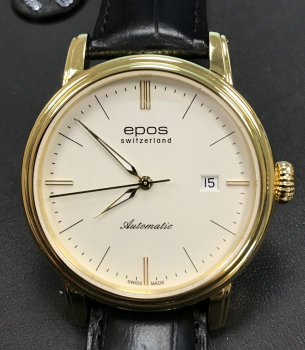 Epos - Men's automatic with yellow gold PVD - 3390/F-YG-WHT/SLV - Men - 2011-present